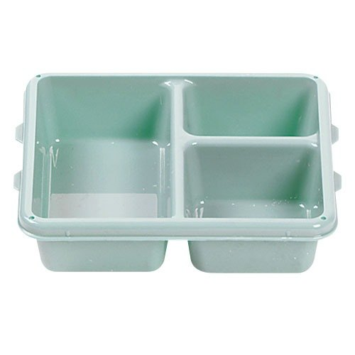 "Cambro 9113CP414 9"" x 11"" Teal 3 Compartment Meal Delivery Tray - 24/Case"