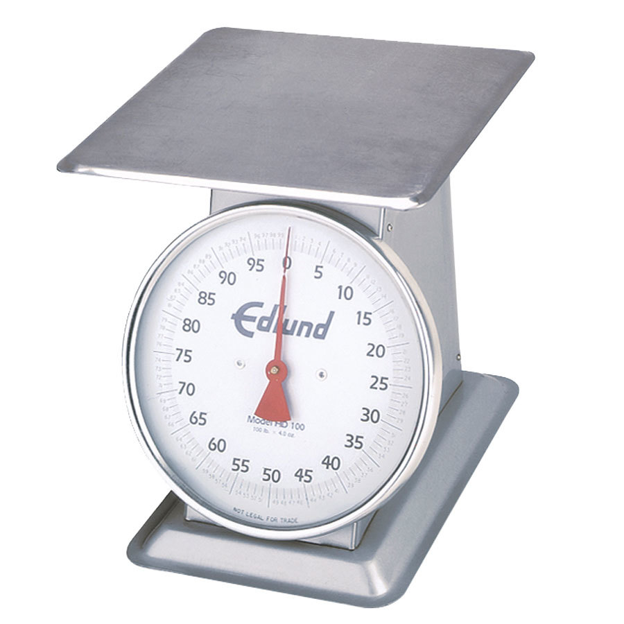 "Edlund HD-100 Heavy-Duty 100 lb. Receiving Scale with 12"" x 12"" Platform"