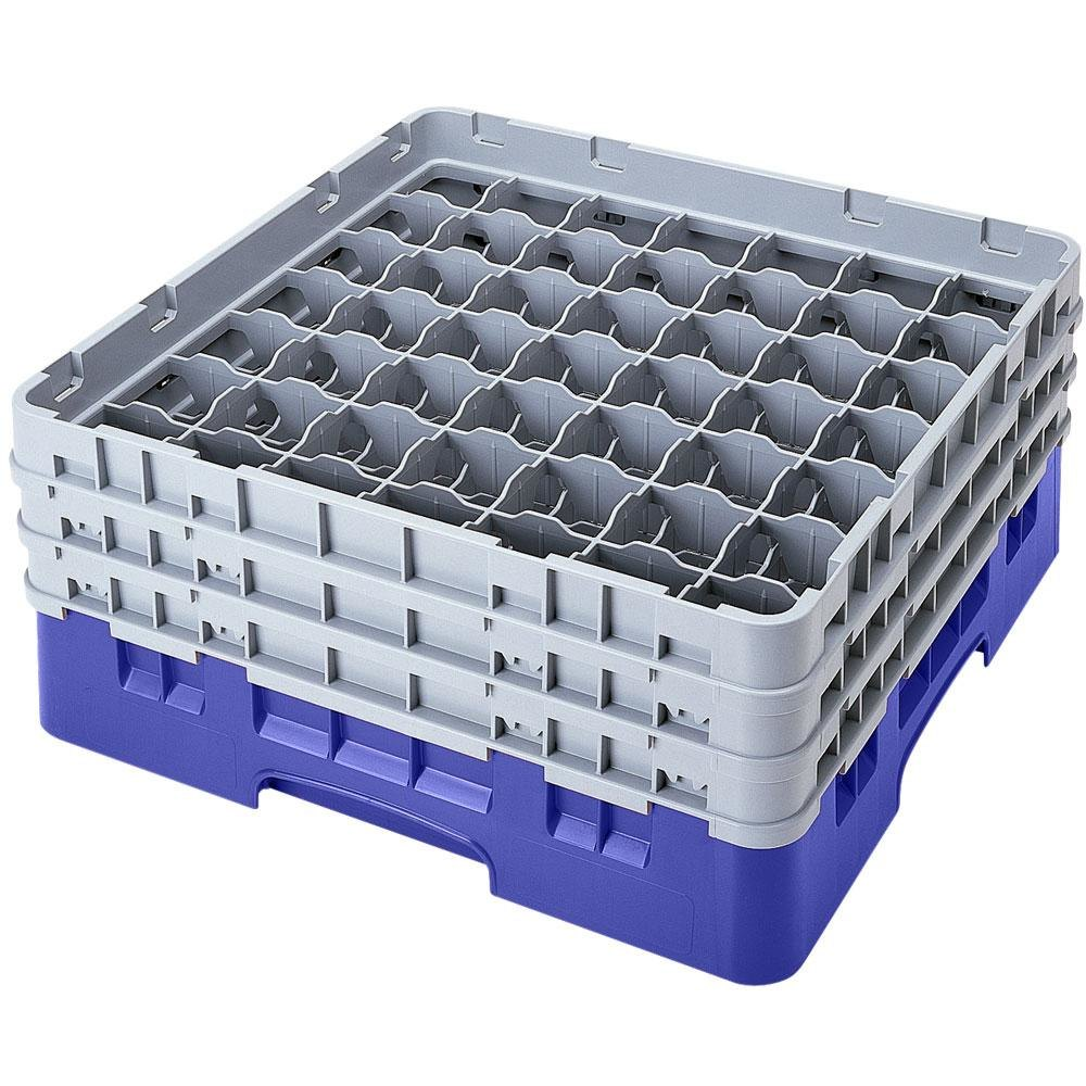 "Cambro 49S638168 Blue Camrack 49 Compartment 6 7/8"" Glass Rack"