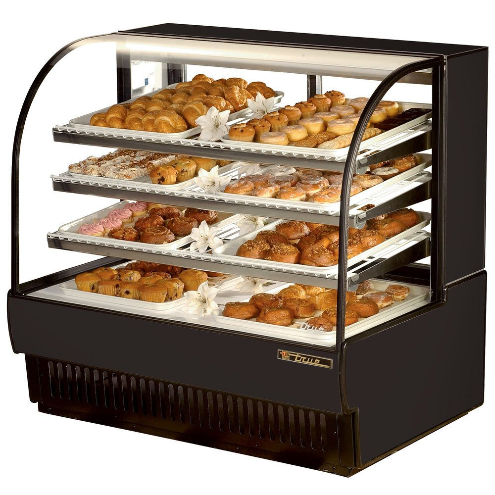 "True TCGD-50 50"" Black Dry Bakery Display Case - 23.8 Cu. Ft."