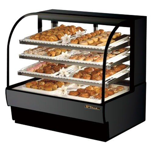 True TCGD-50 50 inch Black Dry Bakery Case - 23.8 Cu. Ft.