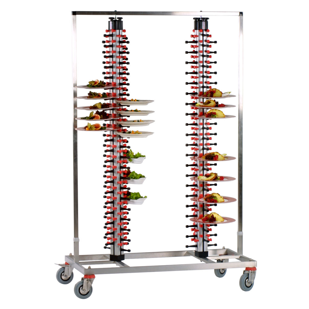 "Plate Mate PM168-180 Twin Mobile Plate Rack Holds 168 Plates 73 3/4""H"