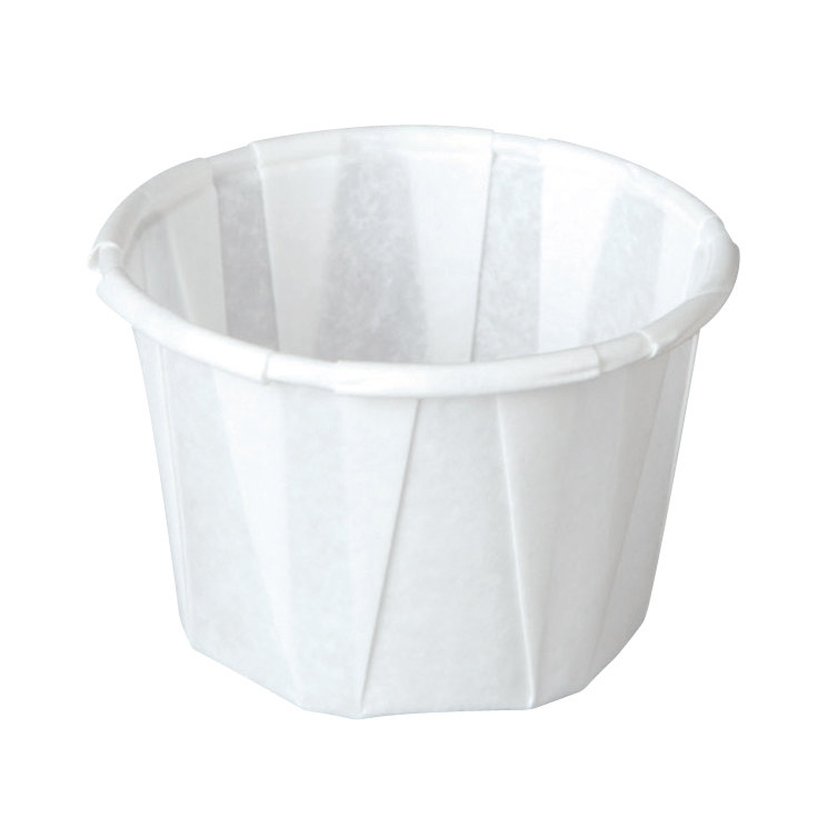 Solo SCC100 1 oz. White Paper Souffle / Portion Cup 250/Box