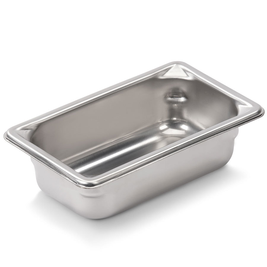 Vollrath Super Pan V 30922 1/9 Size Stainless Steel Anti-Jam Steam Table / Hotel Pan - 2 inch Deep