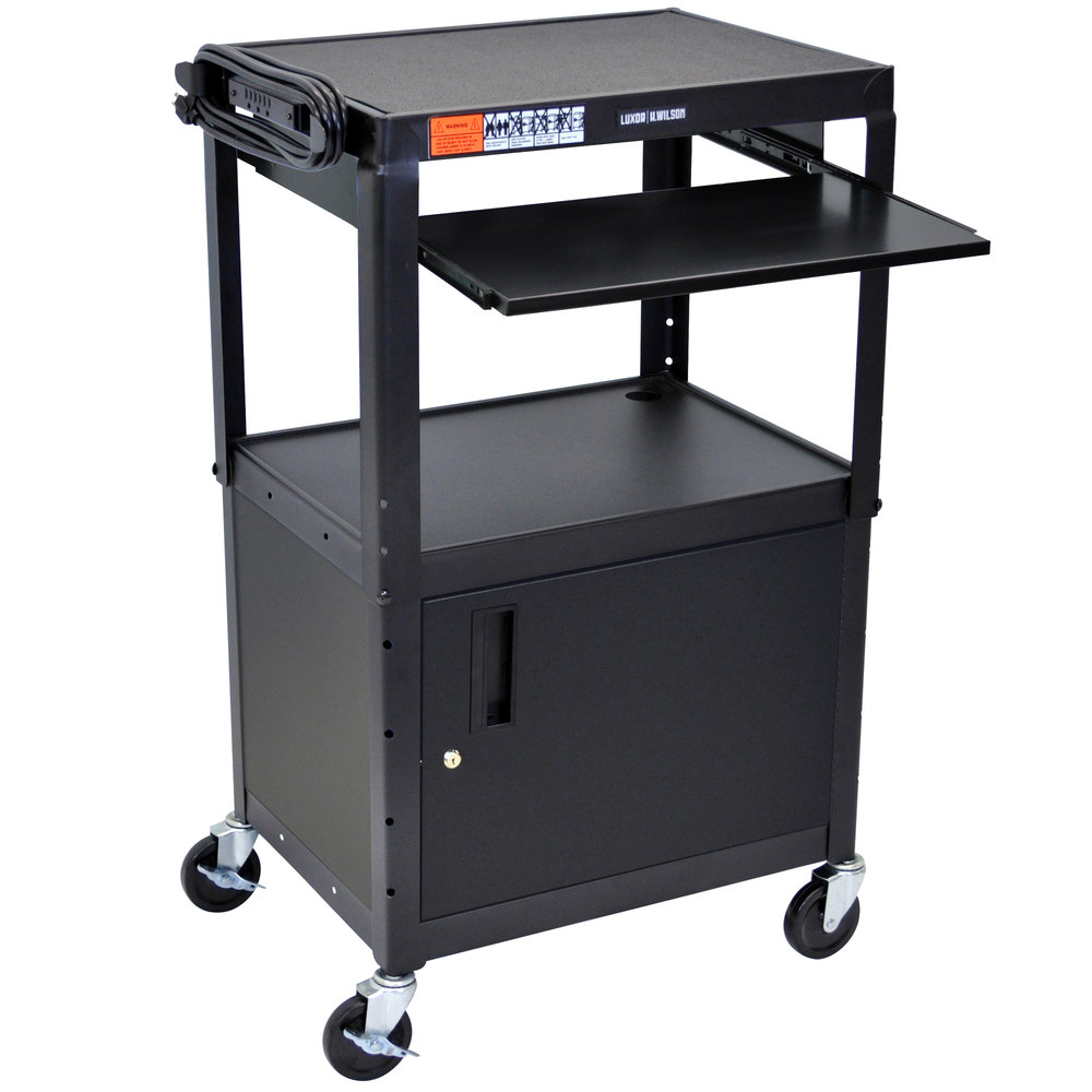 Luxor Avj42kbc Mobile Computer Cart Workstation 24 Quot X 18