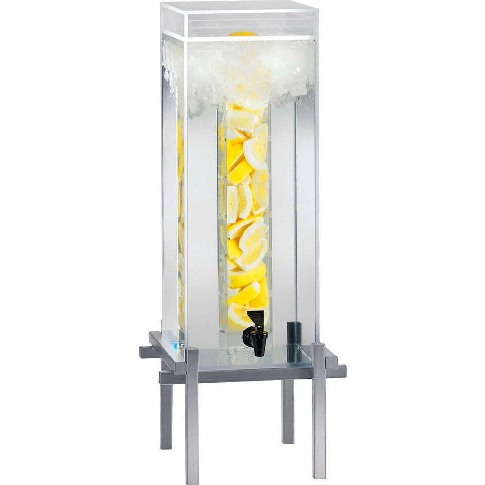 Cal-Mil 1132-5INF-74 Silver One By One 5 Gallon Beverage Dispenser with Infusion Core