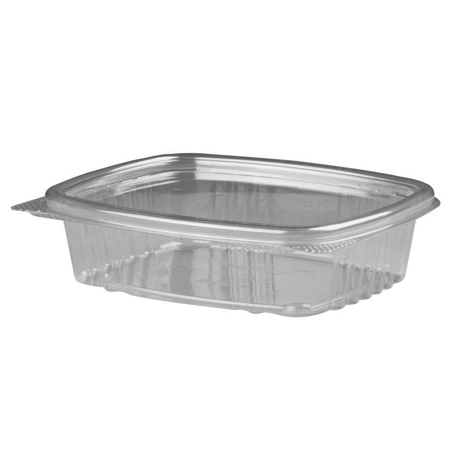 "Genpak AD08 5 3/8"" x 4 1/2"" x 1 1/2"" 8 oz. Clear Hinged Deli Container - 200 / Case at Sears.com"