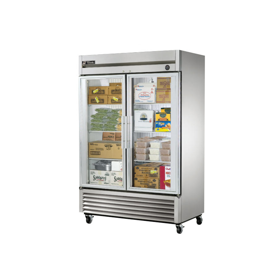 True Refrigeration True T-49FG 2 Section Glass Door Bottom Mounted Reach-In Freezer at Sears.com