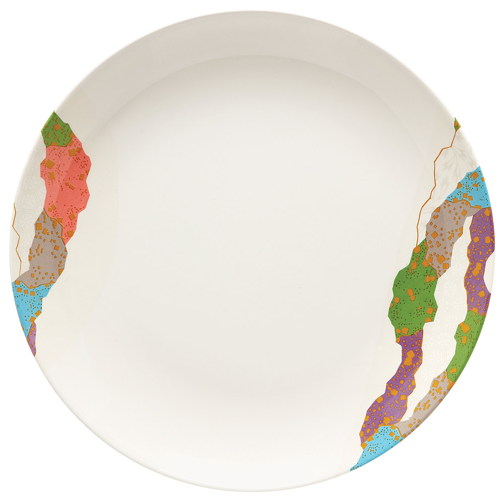 "GET 208-5-CO 12"" Contemporary Melamine Round Plate - 12/Pack"