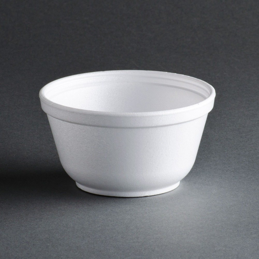 Dart 10B20 10 oz. Insulated White Foam Bowl - 50 / Pack