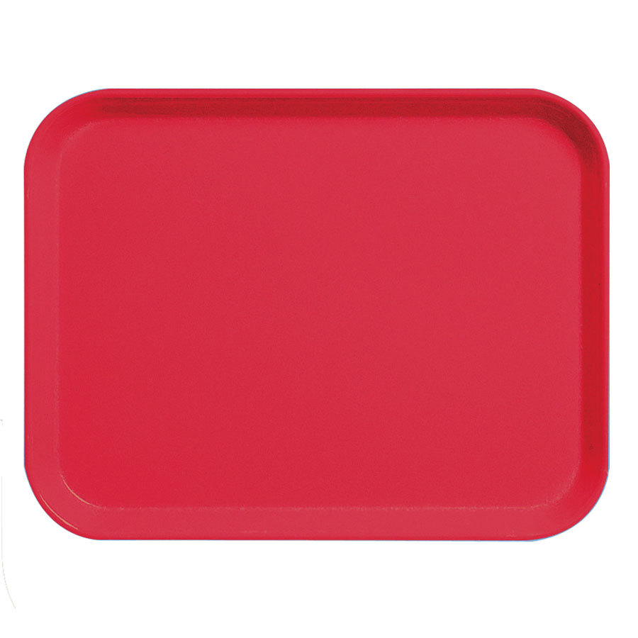 "Cambro 3253CL163 Camlite 13"" x 21"" Red Tray - 12/Case"