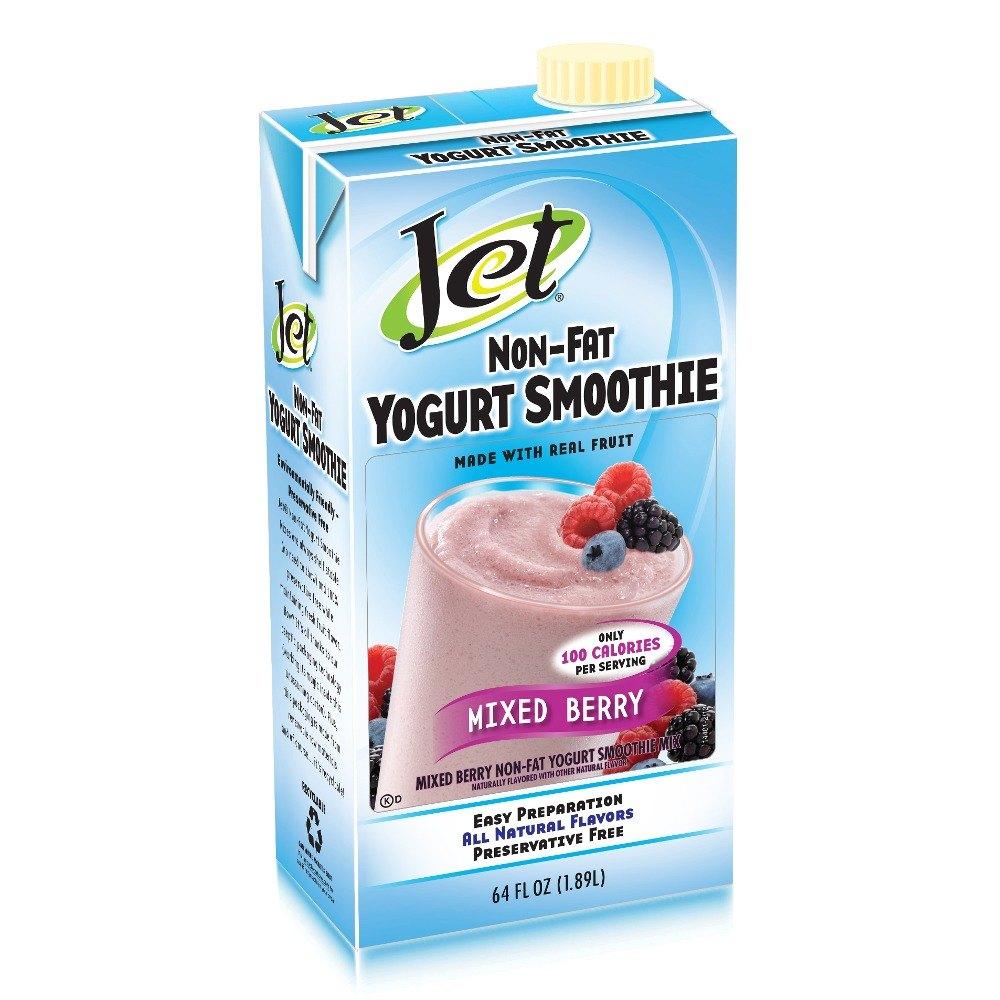 Jet Mixed Berry Non-Fat Yogurt Smoothie Mix - 64 oz.