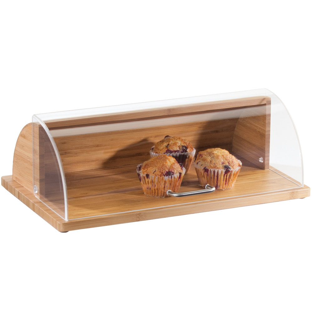 "Cal-Mil 1333-60 Bamboo Roll Top Tray - 20"" x 12"""