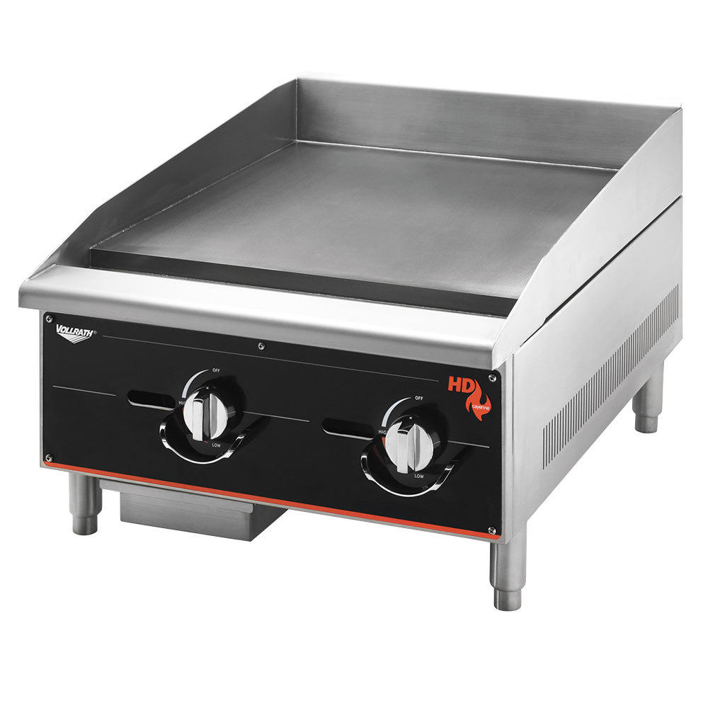 "Vollrath 924GGM Cayenne 24"" Heavy Duty Countertop Griddle with Manual Controls - 60,000 BTU"