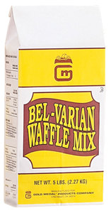 Gold Medal 5017 One-Step Belgian Waffle Mix 5 lb. Containers 6 / Case