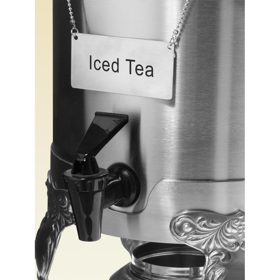 "Coffee Chafer Name Plate - ""Iced Tea"""