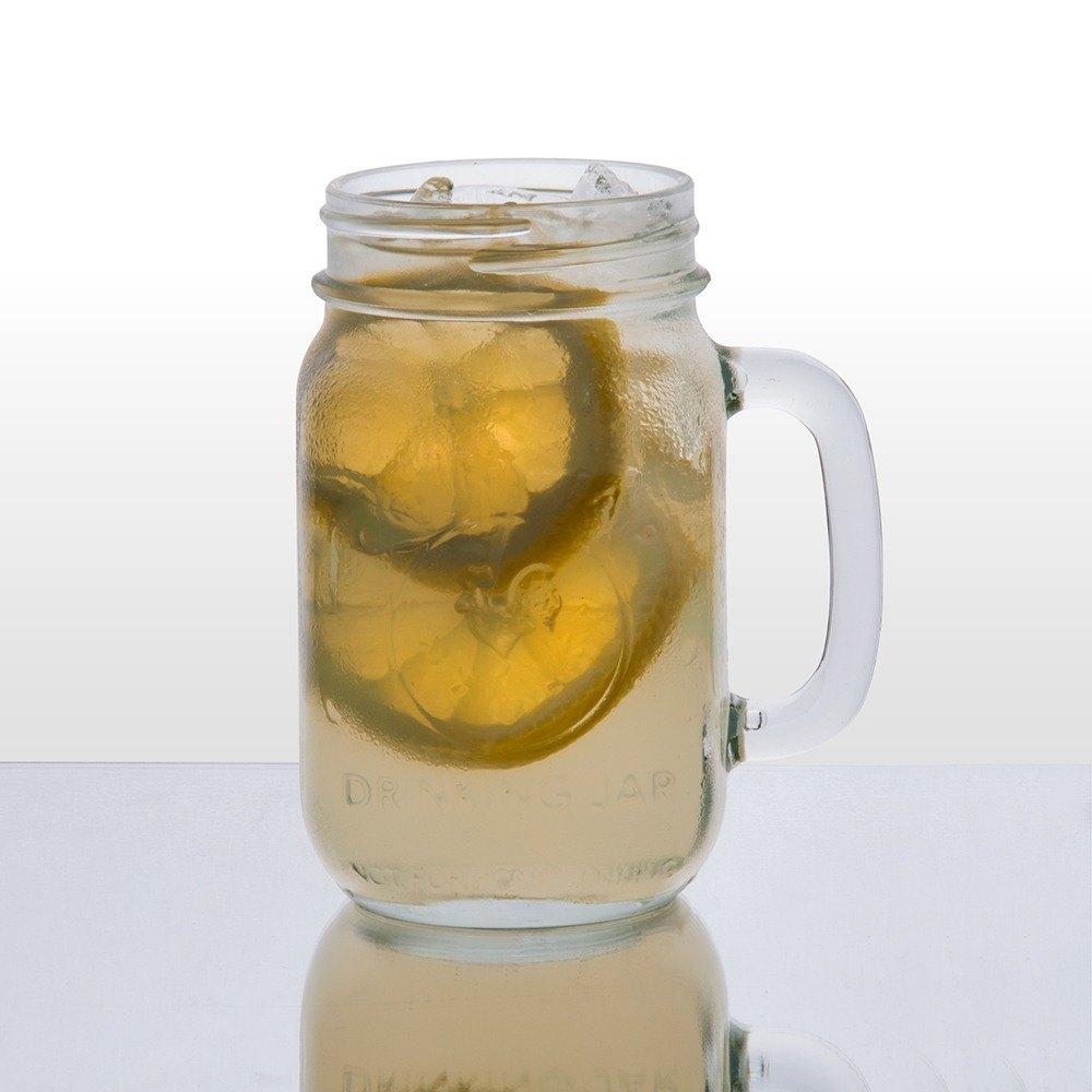 Libbey county fair mason jar drinking glasses with handle 16 oz 12 case - Mason jar goblets ...