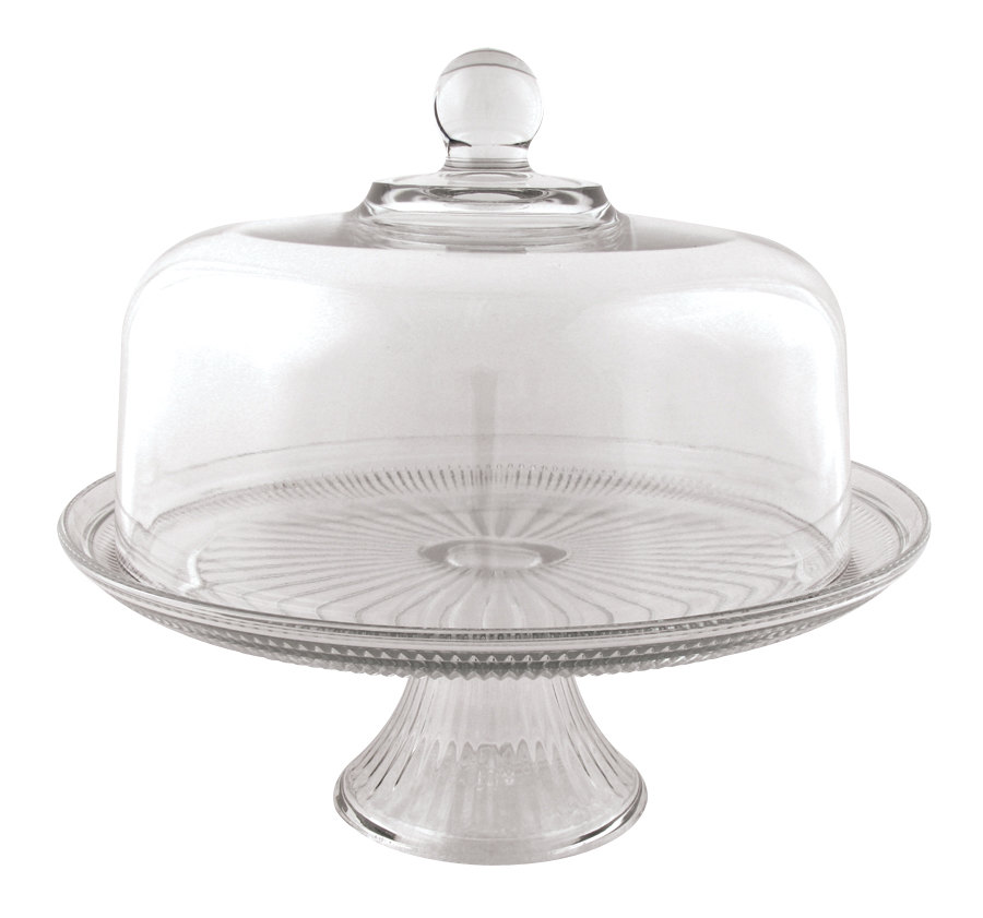 Anchor Hocking 86475L6R 12 inch Glass Canton Cake Stand Set