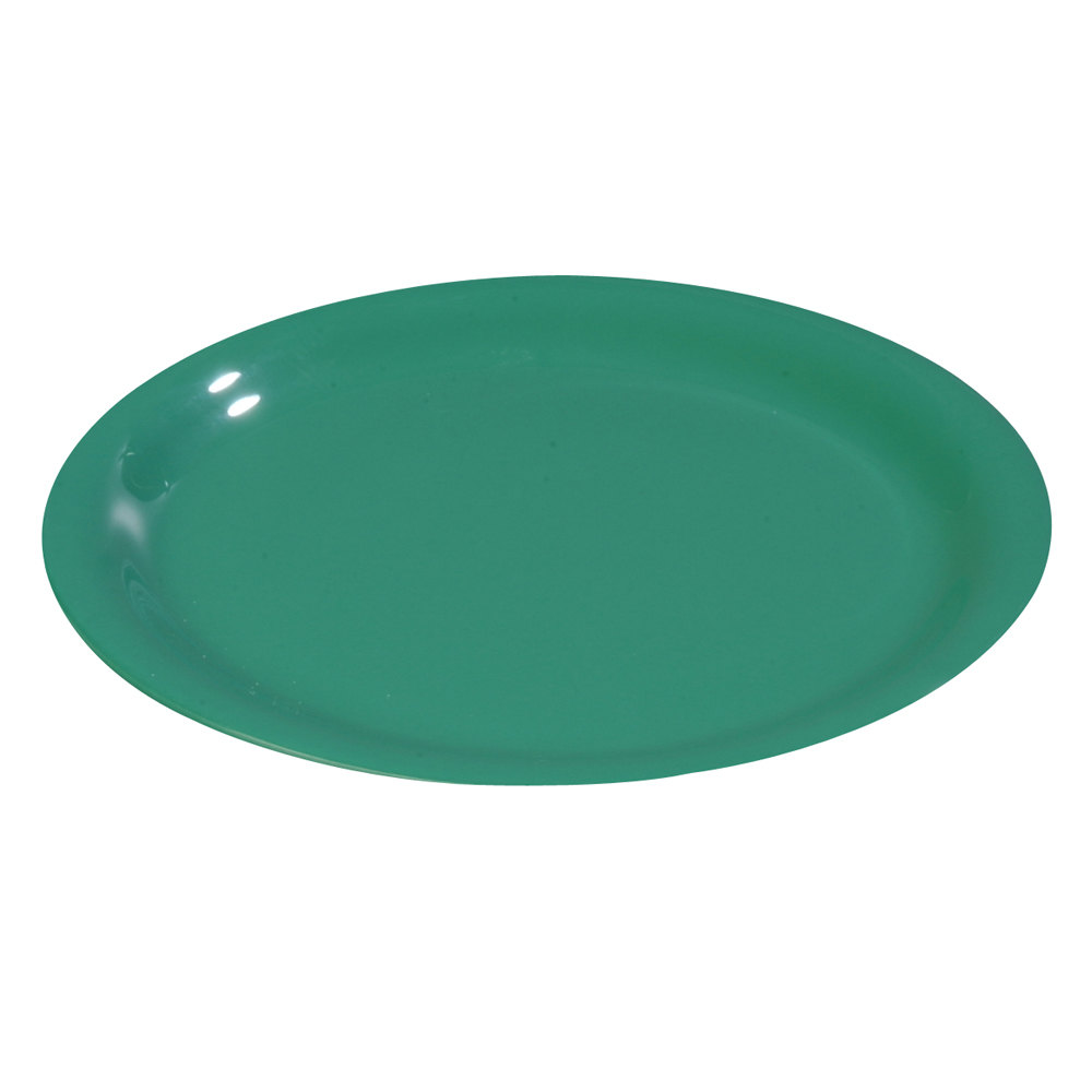 "Carlisle 3300809 6 1/2"" Meadow Green Sierrus Narrow Rim Pie Plate - 48 / Case"