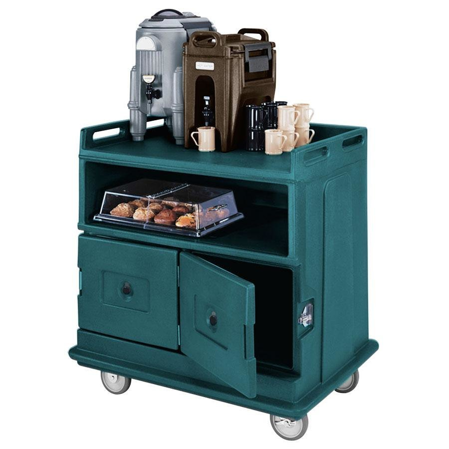 Cambro MDC24F192 Granite Green Beverage Service Cart