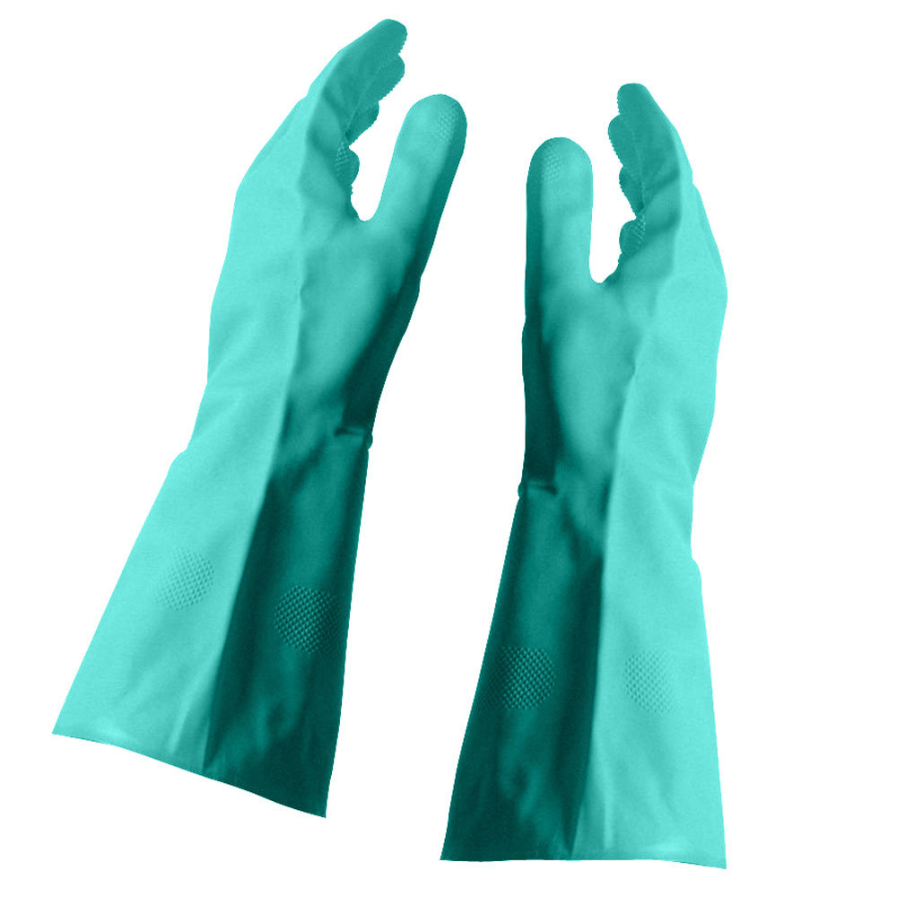 Nitrile Glove Flock Lined 15 Mil Large - 12 Pairs / Pack
