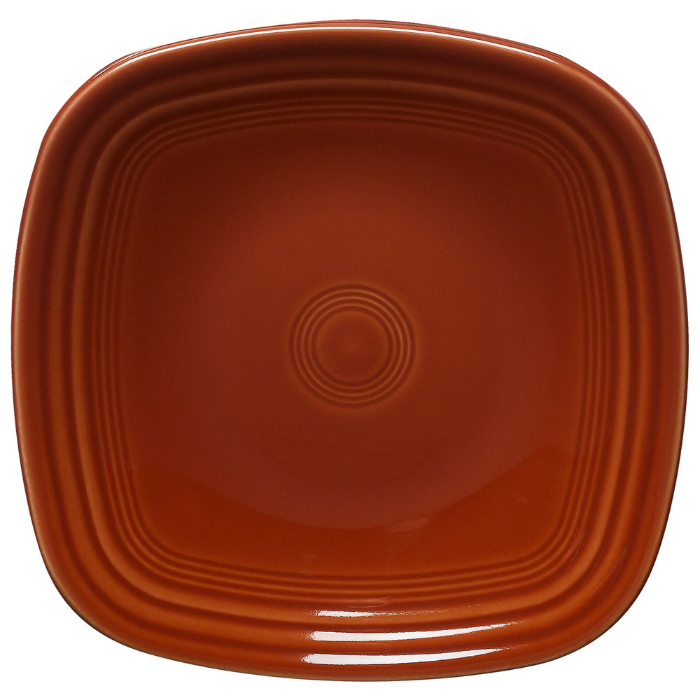 "Homer Laughlin 921334 Fiesta Paprika 7 1/2"" Square Salad Plate - 12 / Case"