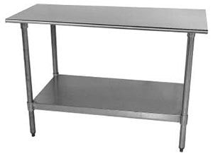 18 Gauge Advance Tabco TT-305 30 inch x 60 inch Stainless Steel Work Table with Galvanized Undershelf