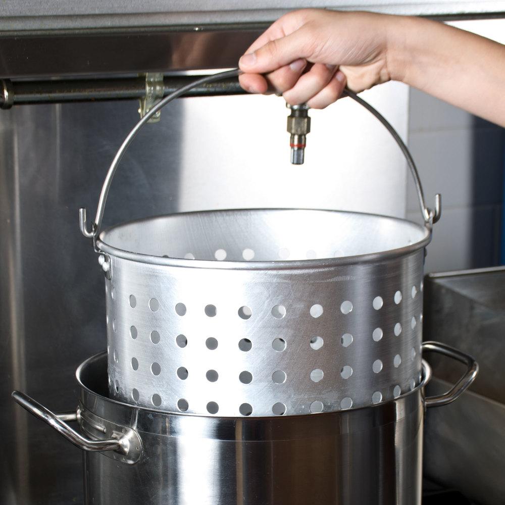 20 Qt. Aluminum Stock Pot Steamer Basket