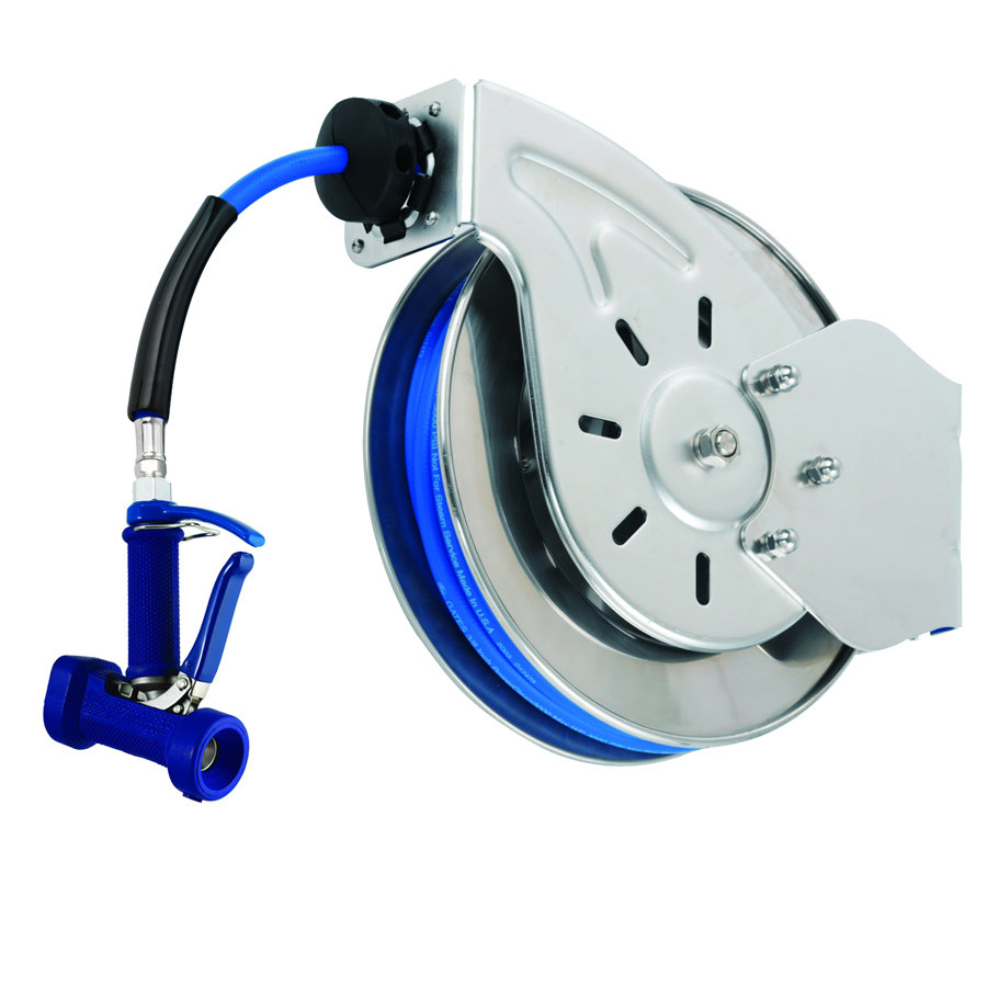T Amp S B 7112 05 15 Open Stainless Steel Hose Reel With