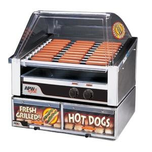"""APW Wyott HR-50BC 35"""" Hot Dog Roller Grill with Chrome Plated Rollers and Bun Cabinet - 120V at Sears.com"""