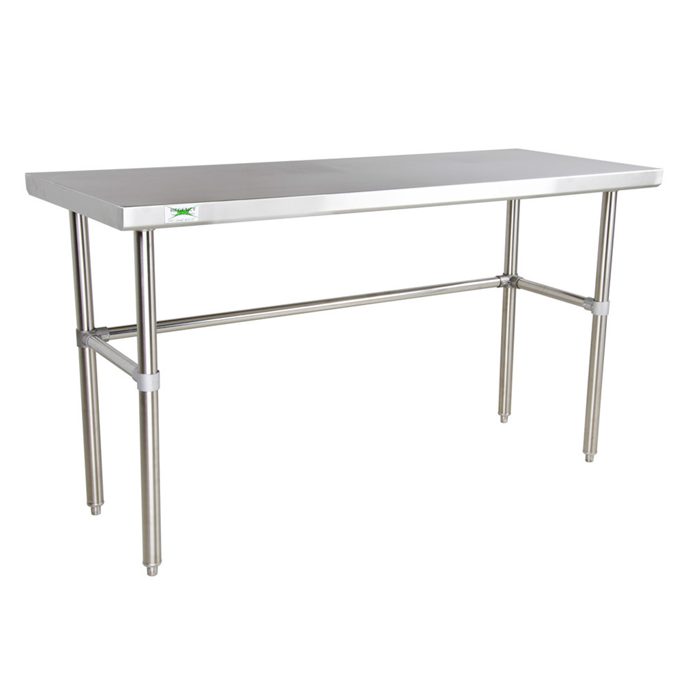 Regency 16 Gauge 30 inch x 60 inch Stainless Steel Commercial Open Base Work Table