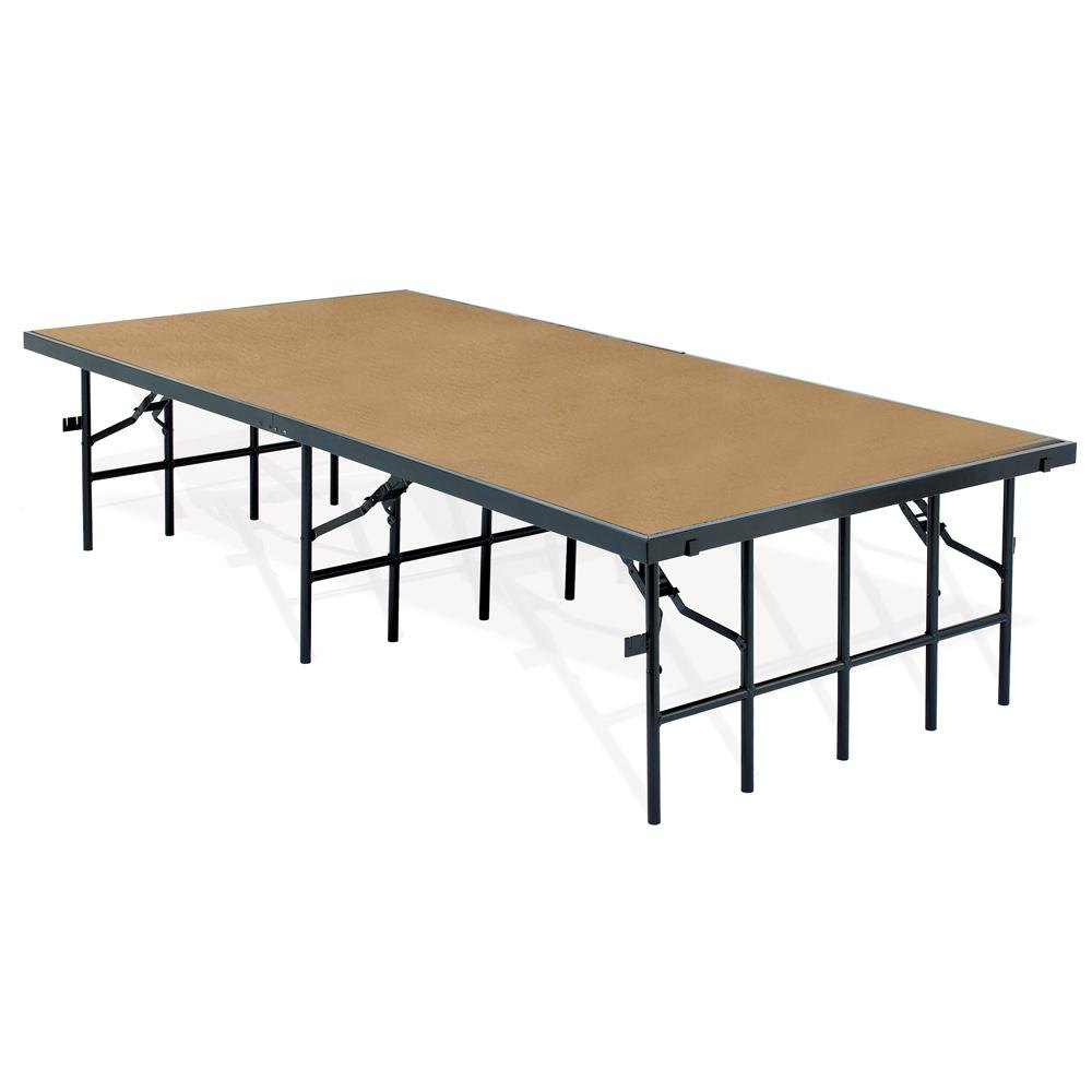 "National Public Seating S488HB Single Height Hardboard Portable Stage - 48"" x 96"" x 8"""