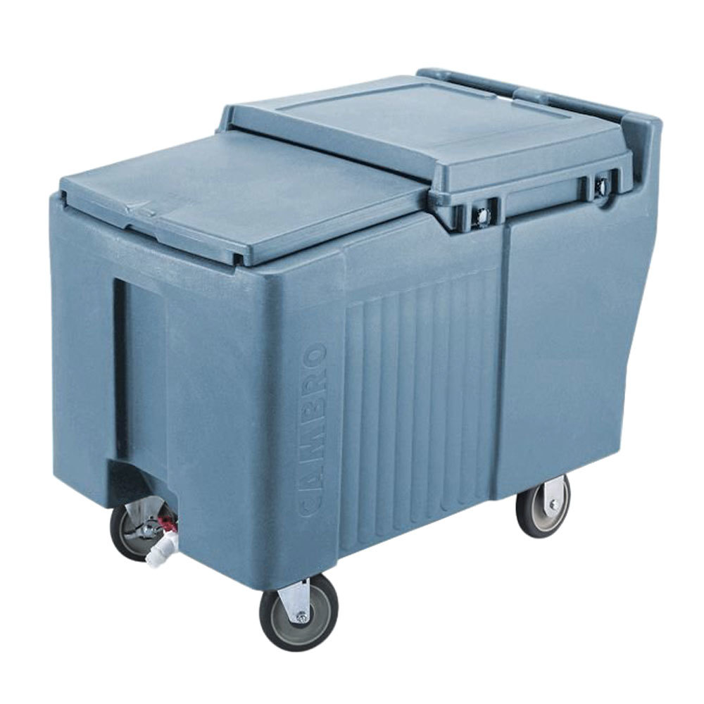 Cambro ICS175L401 Slate Blue Sliding Lid Portable Ice Bin - 175 lb. Capacity