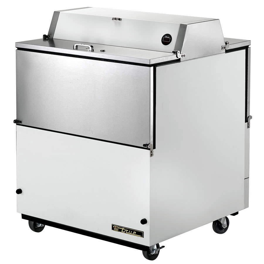 True TMC-34-DS 34 inch White Two Sided Milk Cooler