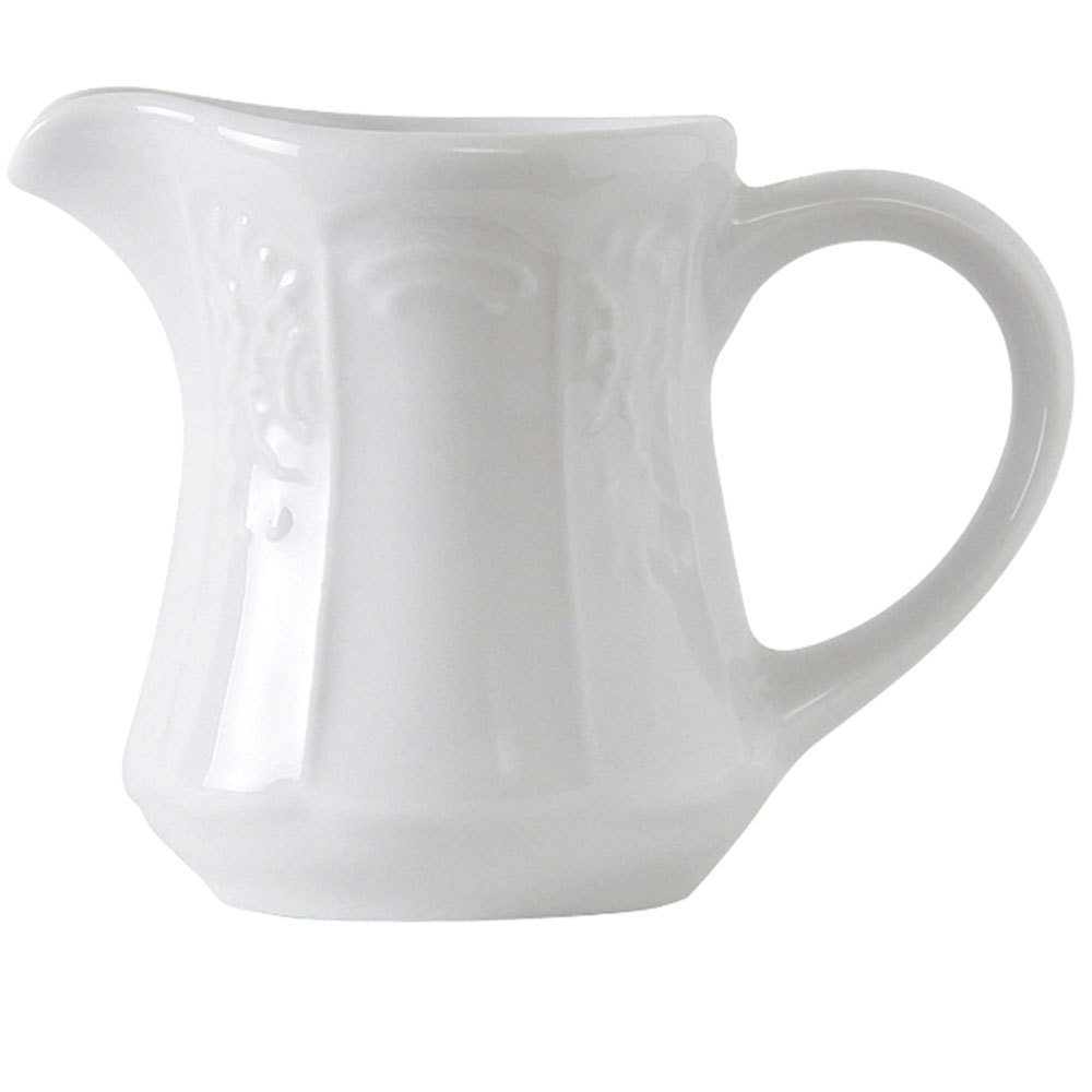 Tuxton CHR-125 Chicago 12.5 oz. Bright White China Gravy / Sauce Boat - 12/Case