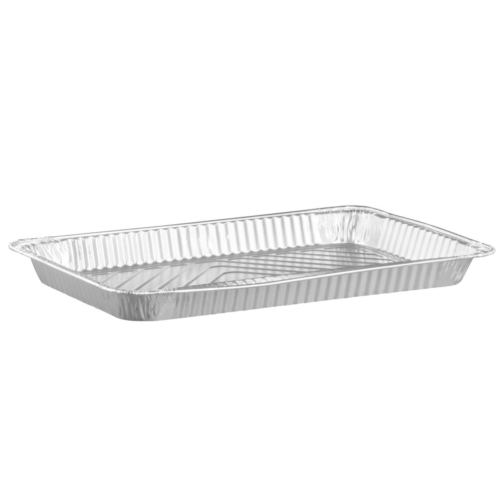 "Durable Packaging 7700-70 Full Size Foil Steam Table Pan Shallow Depth - 1 11/16"" Deep - 50 / Case"