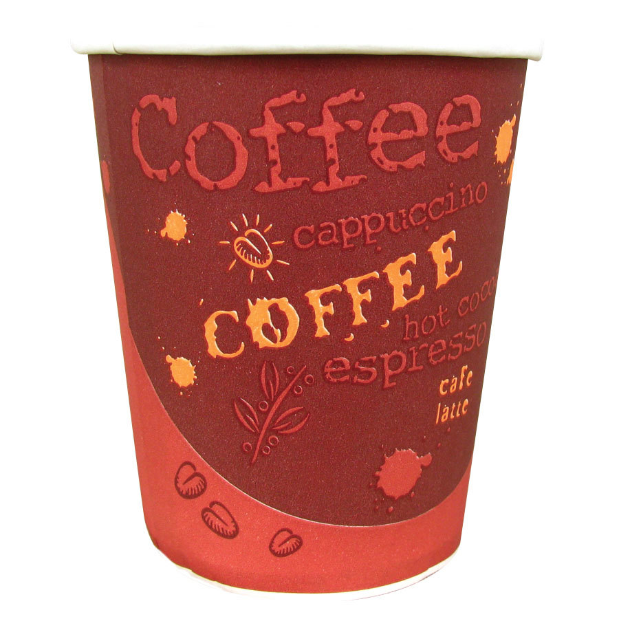 Choice 12 oz. Paper Hot Cup with Coffee Design 50 / Pack