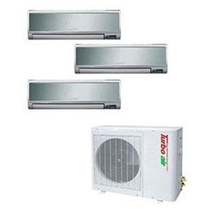 Turbo Air 39,000 BTU Ductless Wall Mounted Multi-Zone Air Conditioner / Heat Pump with Three Indoor Evaporators