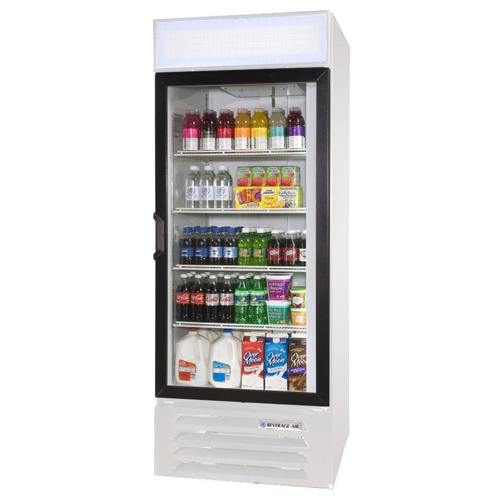 Beverage Air (Bev Air) LV27-1-W-LED White LumaVue 30 inch Refrigerated Glass Door Merchandiser with LED Lighting - 27 Cu. Ft.