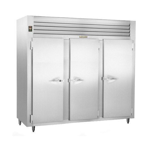 Traulsen RLT332WUT-FHS Stainless Steel 79 Cu. Ft. Three-Section Solid Door Reach-In Freezer - Specification Line