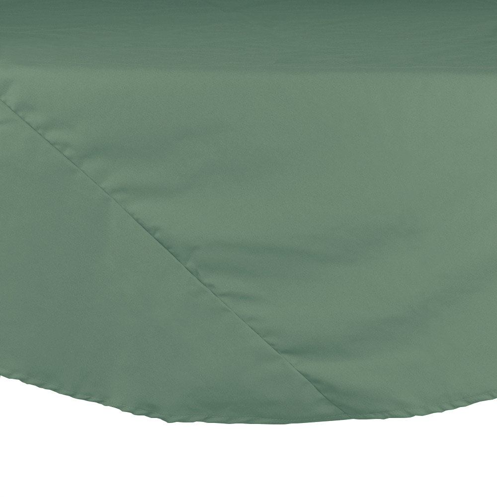 "64"" Seafoam Green Round Hemmed Polyspun Cloth Table Cover"