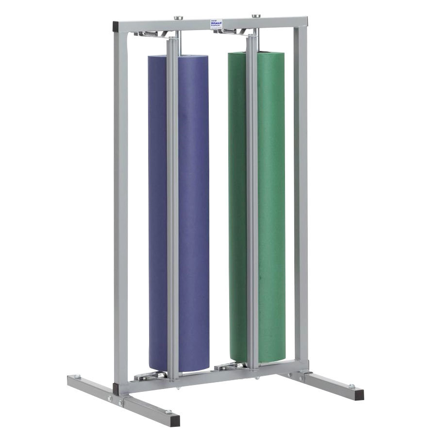 "Bulman R997-48 48"" Vertical Two Roll Paper Rack"