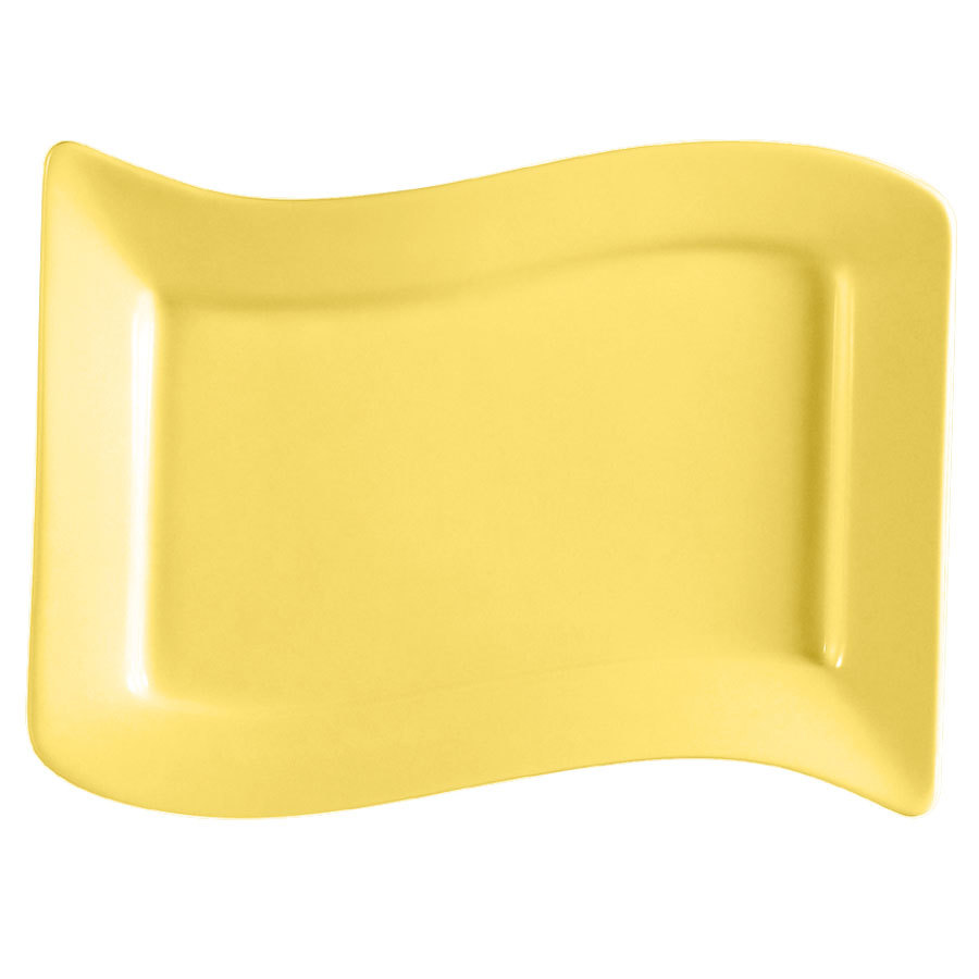 CAC SOH-125YW Color Soho 22 oz. Yellow Stoneware Pasta Bowl - 12 / Case