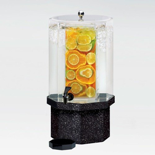 Cal Mil 972-5-INF-17 5 Gallon Classic Octagon Infusion Dispenser with Charcoal Granite Base - 13 inch x 13 inch x 22 inch