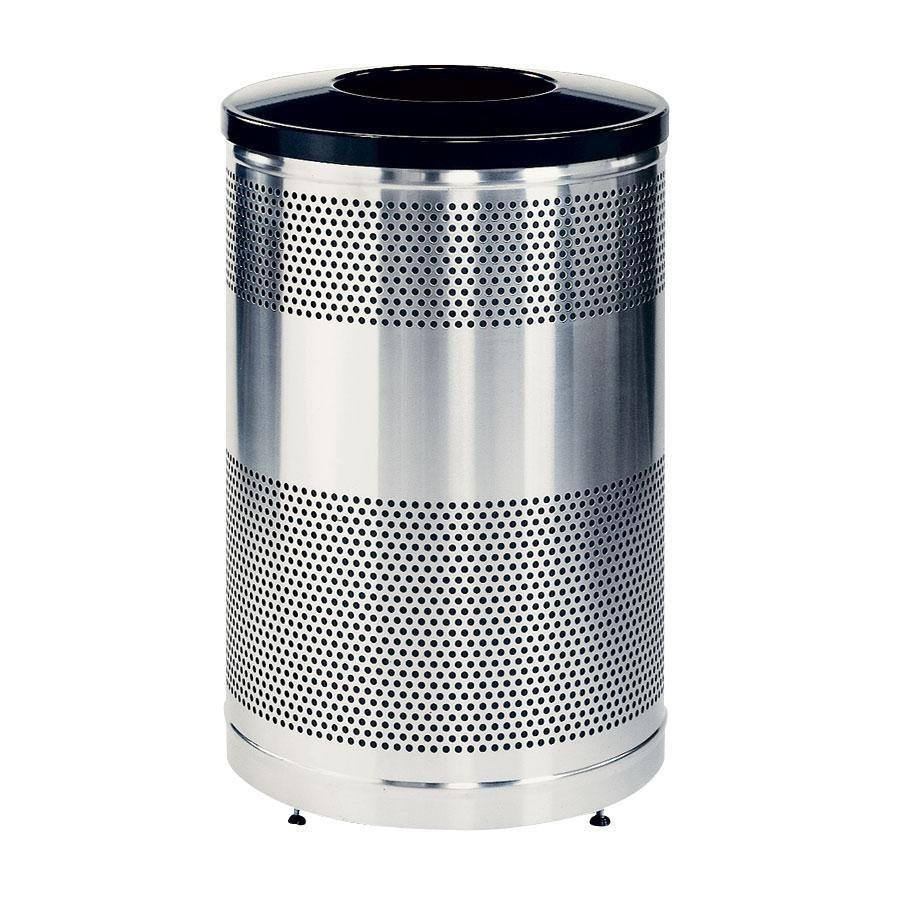 Rubbermaid FGS55SSTBKPL Perforated Stainless Steel Waste