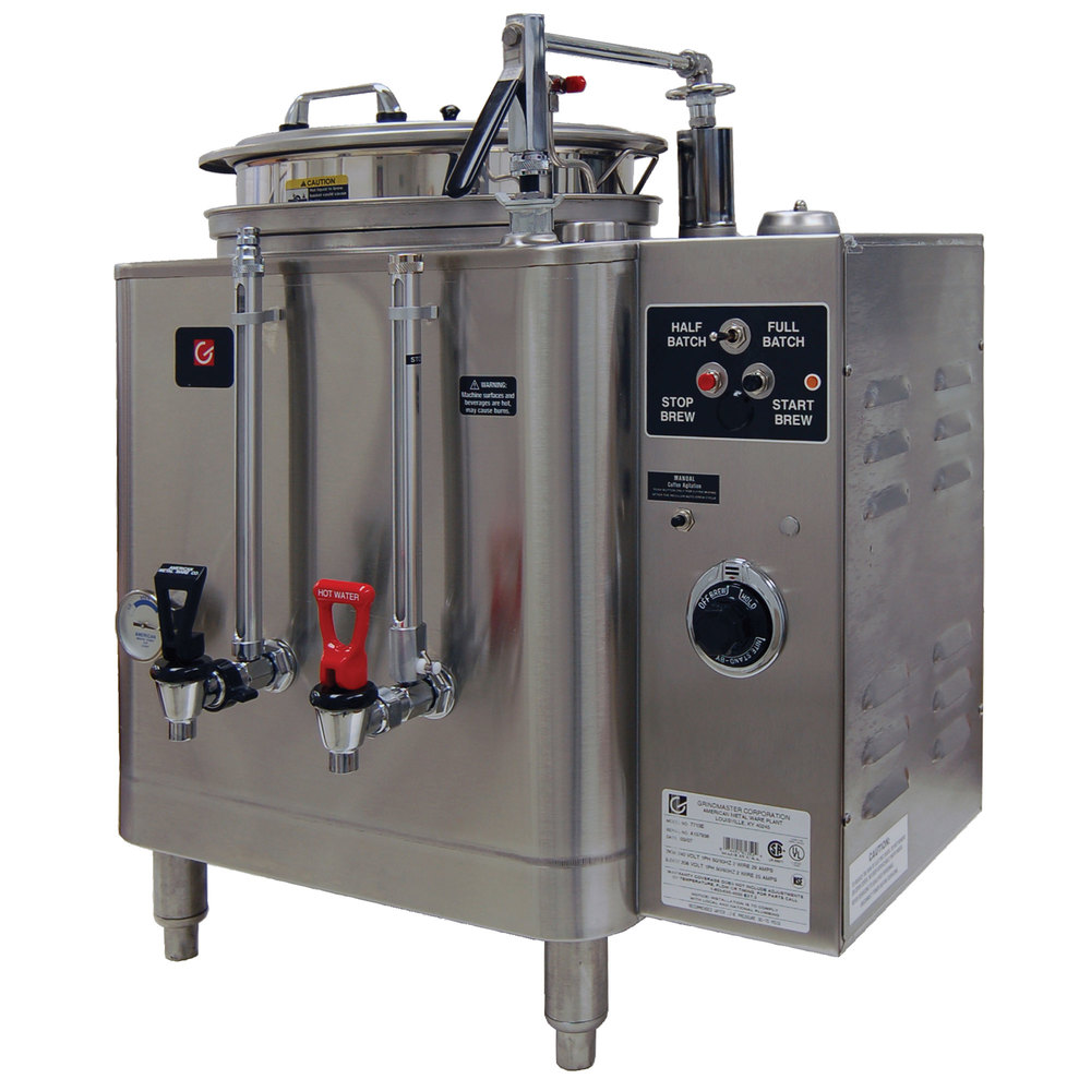 Grindmaster 7716E Single 6 Gallon Automatic Mid Line Coffee Urn - 120/208V, 1 Phase