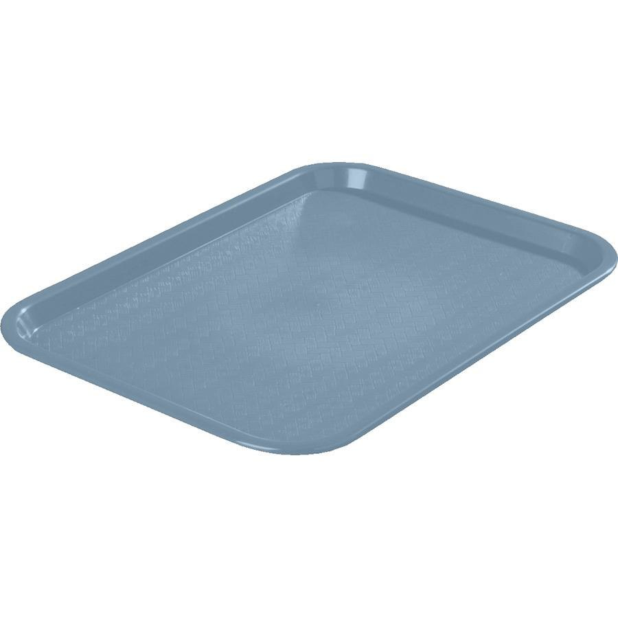 "Carlisle CT121659 Customizable Cafe 12"" x 16"" Slate Blue Standard Plastic Fast Food Tray - 24/Case"