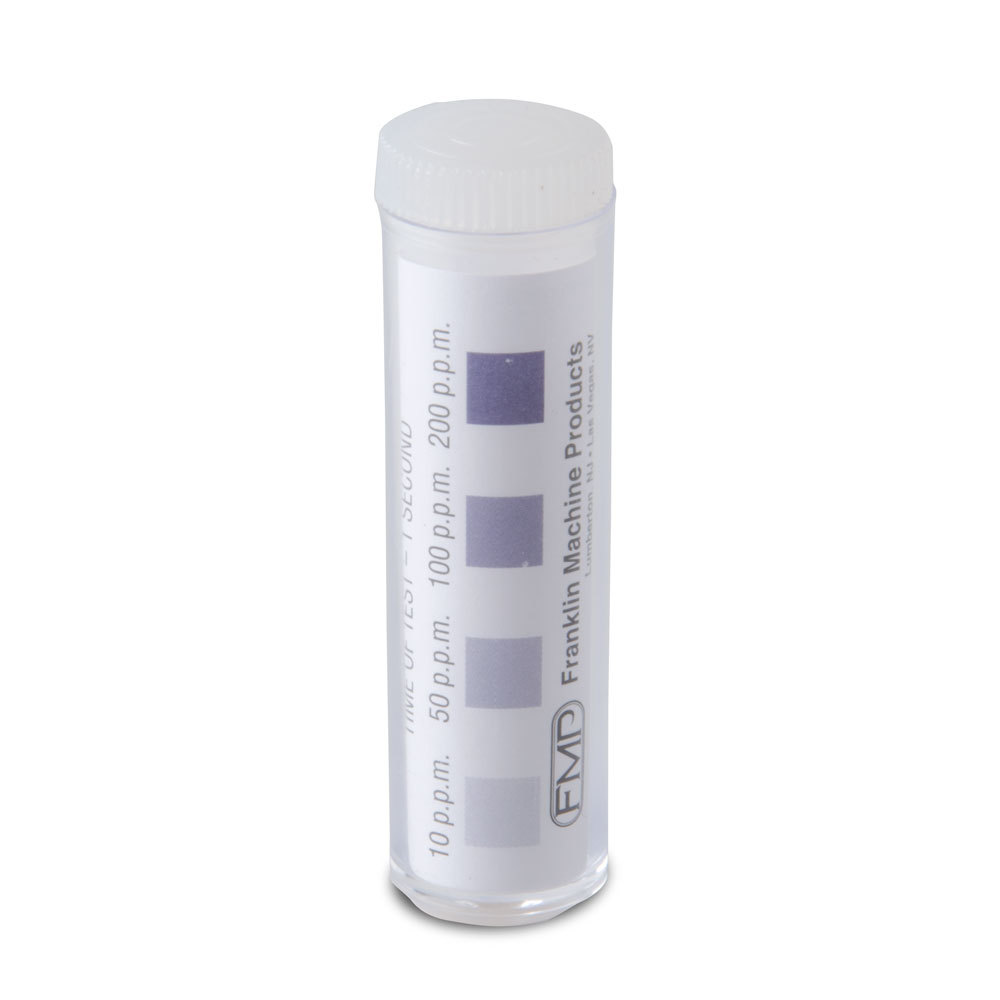 FMP 142-1362 SK-TWC-Chrome Chlorine Sanitizer Test Strips - 100/Vial