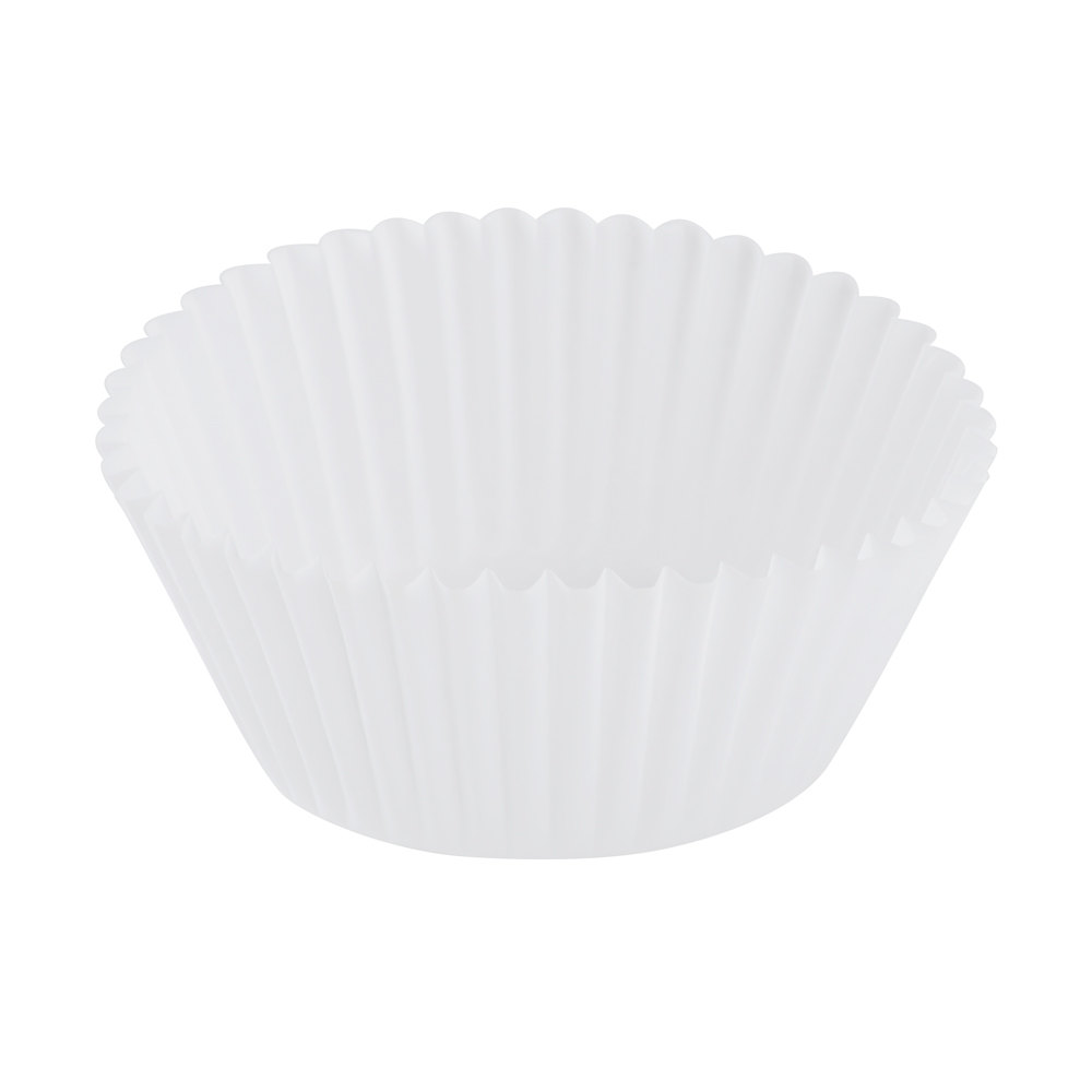 "Hoffmaster 610032 2"" x 1 1/4"" White Fluted Baking Cup - 500/Pack"
