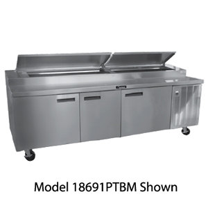 Delfield 18699PTBM 99 inch Refrigerated Pizza Prep Table